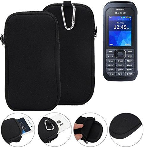 K-S-Trade Neopren Hülle Für Samsung Xcover 550 Schutzhülle Neoprenhülle Sleeve Handyhülle Schutz Hülle Handy Gürtel Tasche Hülle Holster Handytasche Schwarz