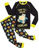Pokèmon Pijama Niño Diseño con Snorlax | Pijama Infantil Invierno | Pijama Manga Larga Niño De Pikachu | Pijama para Niños De Dos Piezas | Ropa De Dormir para Niños (11/12 años)