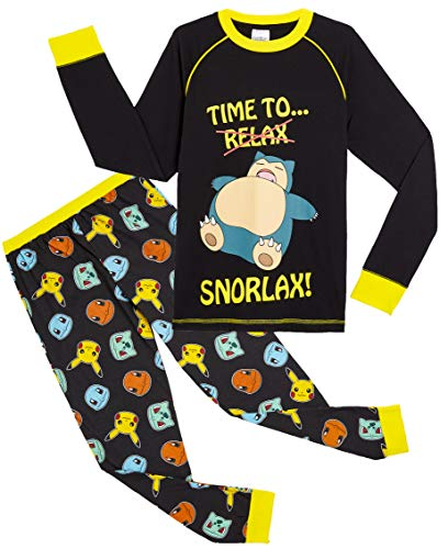 Pokèmon Pijama Niño Diseño con Snorlax | Pijama Infantil