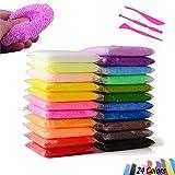 SIMUER Schleim,24 Pack Snow Slime Kit Fluffy Slime Polymer Clay DIY Lehm Schlamm Gift Party Favor 24 Farben