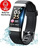 Dido Smart Watch Fitness Tracker for Android and iOS Smartwatch IP67 Waterproof, Buletooth Activity Tracker with Body Fat Heart Rate Monitor Sleep Tracker Message Reminder, Men Women
