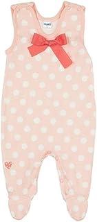 Pinokio Pikolina Baby Strampler 100% Baumwolle, Gepunktet rosa und weiß mit Schleife- Strampelanzug für Erstausstattung, Mädchen