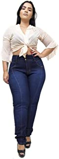 Calça Jeans Feminina Latitude Plus Size Claudinice Azul