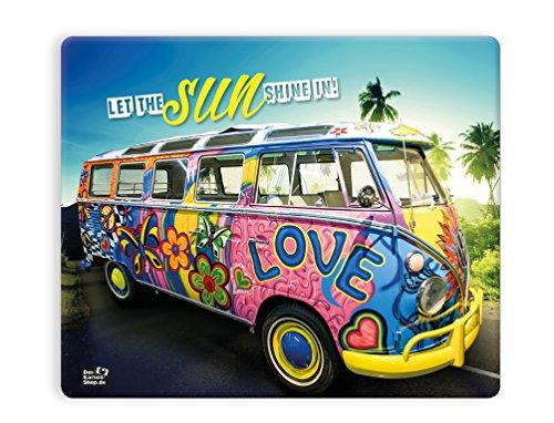 "Witziges Mousepad 23 x 19 cm, mit Motiv, VW Bus Bulli Oldtimer \""Let the sun shine in\"""