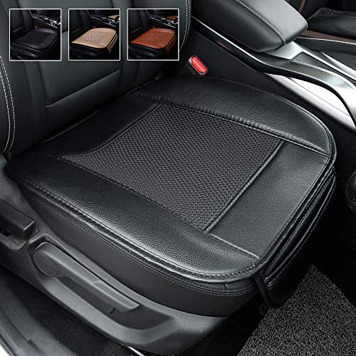 Suninbox Car Seat Covers,Ice Silk Car Seat Cushion Covers Pad Mat,carbonized Leather,Ventilated Breathable Comfortable Interior Seat Covers, Anti-Skid Four Seasons General (Black)