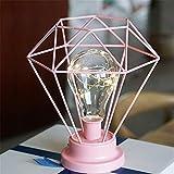 En Fer Forgé Géométrique Usb Lampe Décoration Creative Chandelier En Métal...