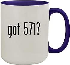 got 571? - 15oz Ceramic Inner & Handle Colored Coffee Mug, Deep Purple