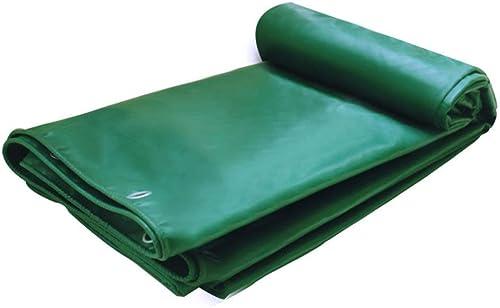 Bache épaissir Multifonction Extérieur Abat-Jour Imperméable écran Solaire Antigel Toile Linoléum Résistant à l'usure Plusieurs Tailles Disponibles GMING (Couleur   Vert, Taille   5x7M)