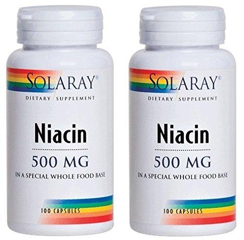 SOLARAY(ソラレー), Niacin(ナイアシン - ビタミンB3) 500 MG 100カプセル(2個セット) [海外直送品] [並行輸入品]