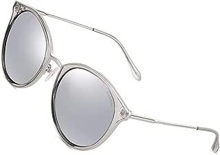 Vintage Round Women Sunglasses - PARZIN Classical Polarized Eyewear with Zipper Sunglasses Case