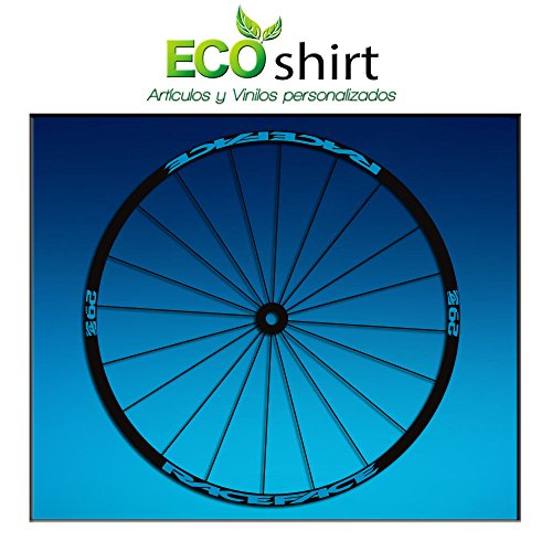 Ecoshirt NB-BXZ4-8A1X sticker Rim Raceface Am54 Bike MTB Downhill, blauw, 29 inch