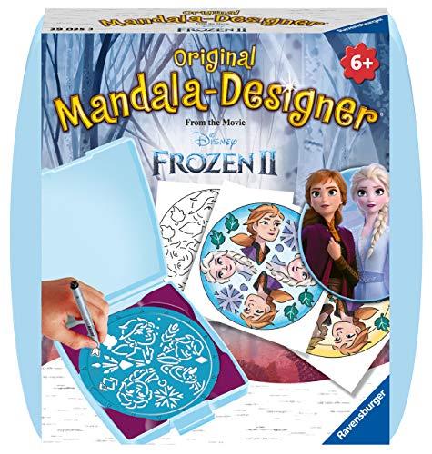 Ravensburger Mandala Designer Mini Frozen 2 29025, Zeichnen lernen mit Anna und Elsa für Kinder ab 6 Jahren, Kreatives Zeichen-Set mit Mandala-Schablone für farbenfrohe Mandalas