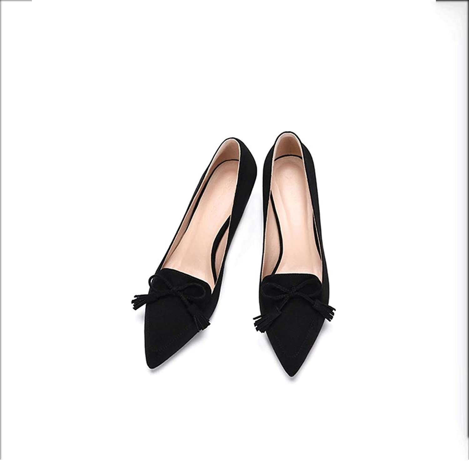 Spring New Wild Small Fresh Nude color High-Heeled shoes Women's Fine with Pointed Net Red Autumn and Summer Single Pumps