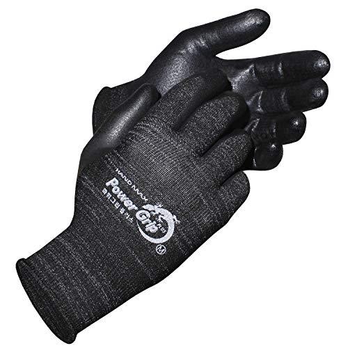 KORECA POWERGRIP PLUS, Nitrile foam Coated Working Gloves, Seamless Knit, Ergonomic Design, Ideal for General Duty, Size L, 3-Pairs
