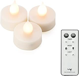WY LEDティーライトキャンドル 3.9cm リモコン付き ボタン電池付き 自動タイマー WY-LEDSET007 (3個セット)