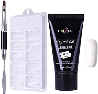 NICOLE DIARY Nail Kit de gel de polietileno Nail Poly building uv gel Clear Extension Pegamento 100Pcs poly uv gel Mould B...