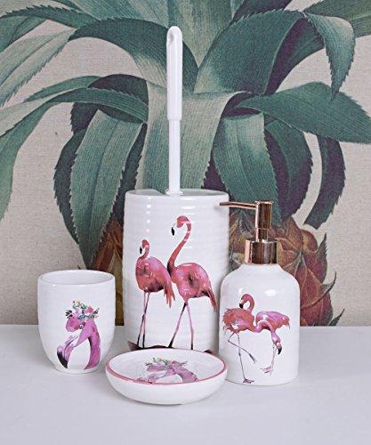 Badezimmer GARNITUR KLOBÜRSTE SEIFENSPENDER SEIFENSCHALE Flamingo Palazzo Exklusiv