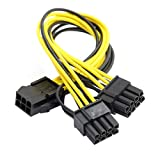 Cablecc PCI-E PCI Express ATX 6 pines macho a doble 8 pines y 6 pines hembra cable de alimentación divisor de tarjeta de vídeo