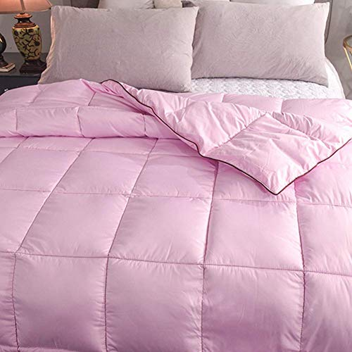 OJKYK Duvet All Season Queen Comforter Soft Quilted Down Alternative Insert with Corner Tabs Fluffy Reversible Collection for Hotel,B,220 * 230cm