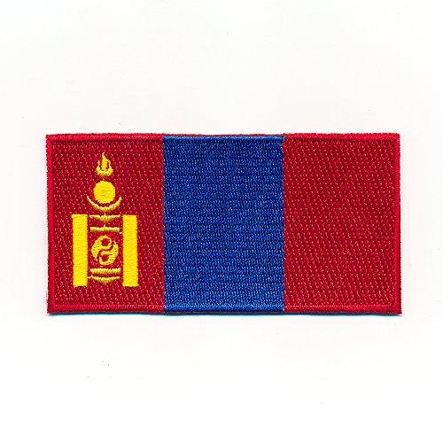 Hegibaer 40 x 20 mm Mongolei vlag Azië Ulaanbaatar Flags Opstrijkmachine 1079 Mini