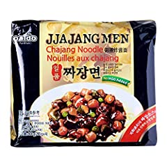 Thick and Chewy Noodle, Coated in the Black Bean Sauce Made with a unique blend of spices, dehydrated carrots and onions and ground bean grains East meets west with spaghetti style noodles in a secret chajang sauce (Chinese black soy bean sauce) ALWA...
