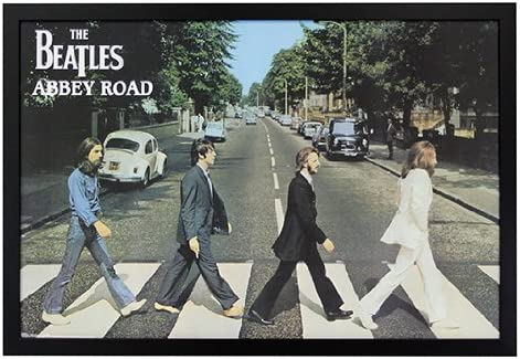 The online shop Popular products Beatles - Abbey Road Framed Poster Black 36x24 on Print Wo a