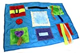 Pretty Blue Tactile Cozy Lap Blanket - Dementia/ Special Needs Activity Product