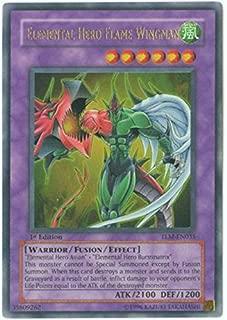 Yu-Gi-Oh! - Elemental Hero Flame Wingman (TLM-EN035) - The Lost Millennium - Unlimited Edition - Ultra Rare