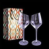 Verre à Vin Rouge & Verre à Vin Blanc (500 ML Lot de 2), Grande Verres à Vin en Cristal Soufflé à la Main sans Plomb, Cadeau Parfait pour Mariage, Anniversaire, Les Restaurants, Les Fêtes