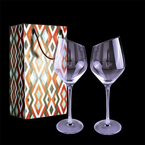 Rotweingläser 500 ml/17 oz, 2er Set Rotweinkelch & Weingläser,Bleifreies Kristallglas Abschrägung Mund Weißweingläser,das perfekte schenk zum Hochzeit,Jubiläum,Weihnachten und Jeder Anlass