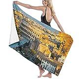 AIMILUX Toalla de Playa,Ver en el Coliseo en Roma,Italia,Toallas de Baño Toallas de Acampada Piscina Natación Playa Toallas de Mano Ducha Toallas de Mano
