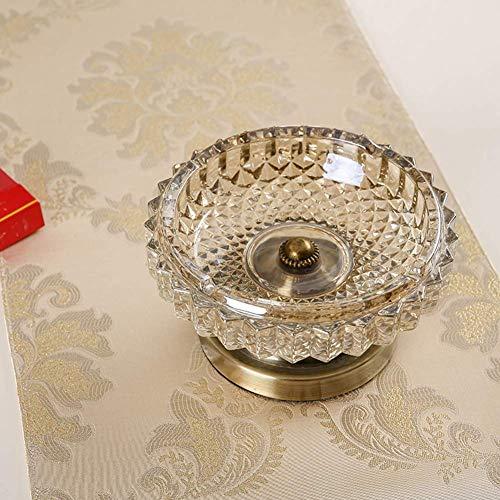 AMITD Asbak huishouden, woonkamer, salontafel, decoratieve glazen asbak A A