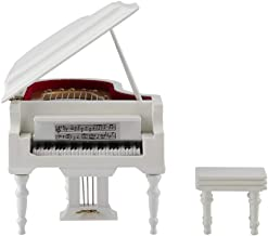 Focket Wood Toy Piano,Mini Musical Grand Piano Music Box Piano Replica with A Bench for Adults,Kids,Boys,Girls Birthday Pr...