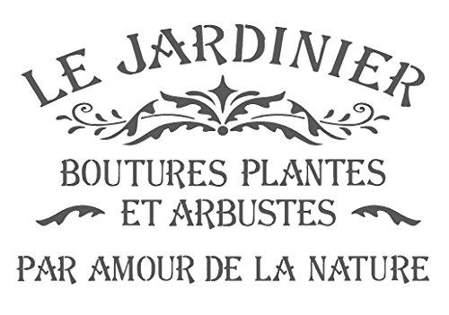Plantilla A5 / A4 / A3 Shabby Chic, Le Jardinier, Mylar Stencil 125/190 micras Reutilizable (211) A4 (190 Micron)