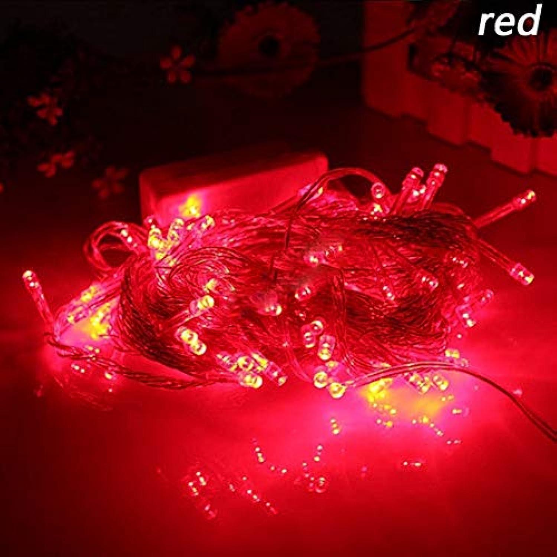 Red, 30M 220V 300LEDs   10M 20M 30M 50M 100M LED String Light Patio Christmas Wedding Decoration AC220V Waterproof Outdoor Light Garland