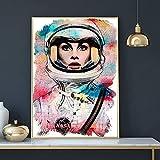 Puzzle 1000 piezas Astronauta femenina acuarela de siete colores puzzle 1000 piezas educa Juego de habilidad para toda la familia, colorido juego de ubicación.50x75cm(20x30inch)