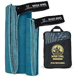Blue hiking towel