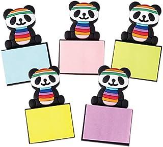 中国 土産 パンダ メモ付マグネット 5コセット (海外旅行 中国 お土産)