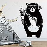 wZUN Dibujos Animados Animal Oso Tribu Bosque de Vinilo Pegatinas de Pared decoración del hogar habitación Dormitorio decoración de la guardería Pegatinas de Pared 50X74 cm