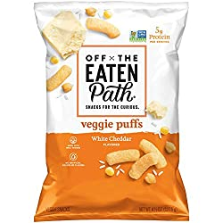 Off the Eaten Path Veggie Puffs, White Cheddar, 4.5oz Bag