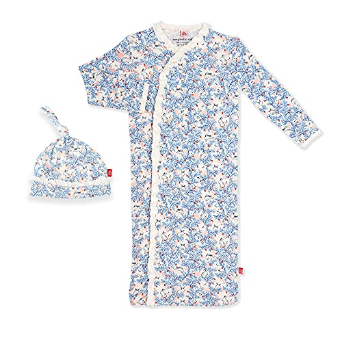 Magnetic Me Baby Gown & Hat Sleep Outfit Soft Modal Layette Sack Set with Magnet Fasteners Newborn - 3 Months Somebunny