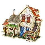 HomeDecTime 1/24 DIY Casa de Muñecas de Madera Modelo de Habitación Artesanías Artesanías Miniatura 3D Rompecabezas de Juguete