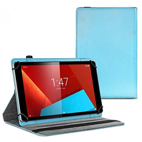 eFabrik Case per Vodafone Tab Prime 6 e Prime 7 Custodia Tablet Cover Caso Casi 360 Gradi Sacchetto di Protezione Finta Pelle Blu