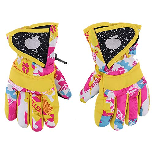 WanMei Guantes de esquí de invierno impermeables para snowboard, guantes cálidos para niños, guantes de dedo completo, correa para deportes, esquí, ciclismo