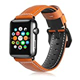 NoNo Geeignet for Apple Watch 3/2/1 Generation 42mm Universal-Baum Lederband Uhr (Farbe : Brown) -