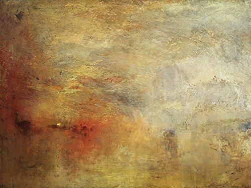 Artland Alte Meister Premium Wandbild Joseph Mallord William Turner Bilder Poster 60 x 80 cm Sonnenuntergang über einem See Kunstdruck Wandposter Romantik R0XB