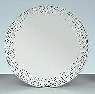 20cm diameter Glass decorated plate
