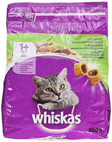 Whiskas Katzenfutter Trockenfutter Adult 1+ mit Lamm, 1 Beutel (1 x 800 g)