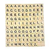 Generische Holz freistehende MDF Buchstaben Scrabble Alphabet A bis Z - Schwarz -
