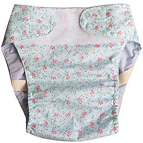 Slipje wasbaar urine-incontinentie ondergoed voor dames en heren, de taille voorkant van de luier is gemakkelijk aan te passen, herbruikbare luier voor volwassenen,L